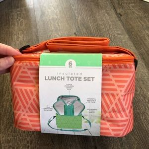 Handbags - Insulated lunch tote set NWT